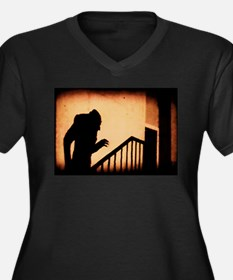 Nosferatu Women's Plus Size V-Neck Dark T-Shirt
