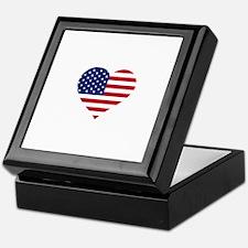 American Heart Keepsake Box