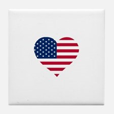 American Heart Tile Coaster