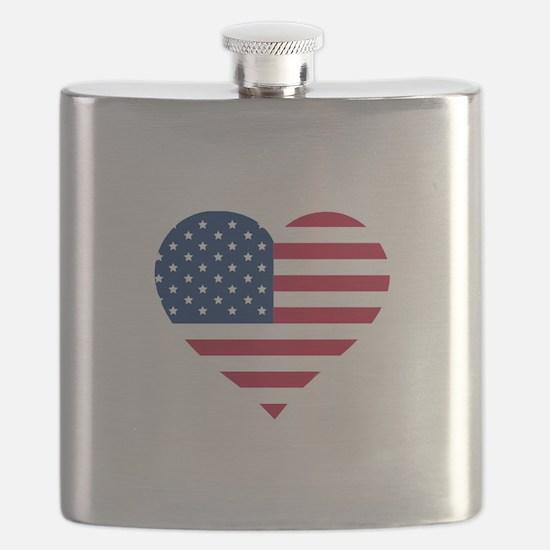 American Heart Flask
