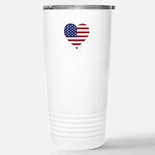 American Heart Stainless Steel Travel Mug