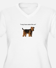Airedale Just ate the cat Plus Size T-Shirt