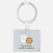 Milk and Cookie Valentine Keychains