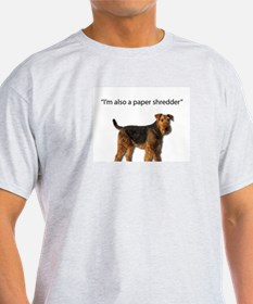Airedale: Natural Paper Shredders T-Shirt