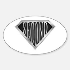 Super Second(metal) Oval Decal