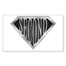 Super Second(metal) Rectangle Decal