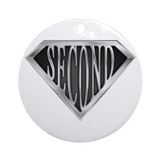 Super Second(metal) Ornament (Round)