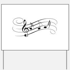 Musical Notes Yard Sign
