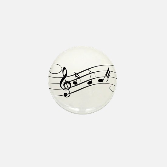 Musical Notes Mini Button