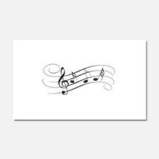 Musical Notes Car Magnet 20 x 12