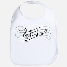 Musical Notes Bib