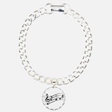 Musical Notes Charm Bracelet, One Charm