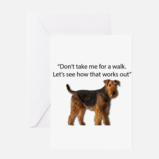 Airedale Terrier Getting Ready for Greeting Cards