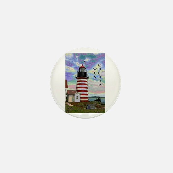 West Quoddy Head Lighthouse Mini Button