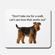 Airedale Terrier Getting Ready for Payba Mousepad