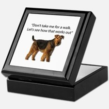 Airedale Terrier Getting Ready for Pa Keepsake Box