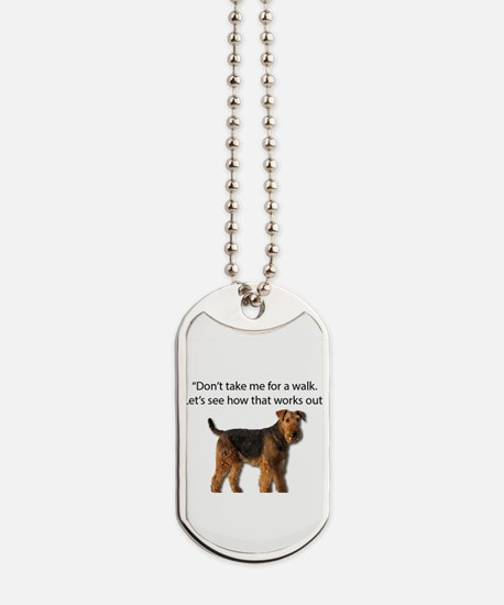 Airedale Terrier Getting Ready for Paybac Dog Tags