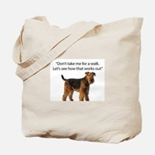 Airedale Terrier Getting Ready for Paybac Tote Bag