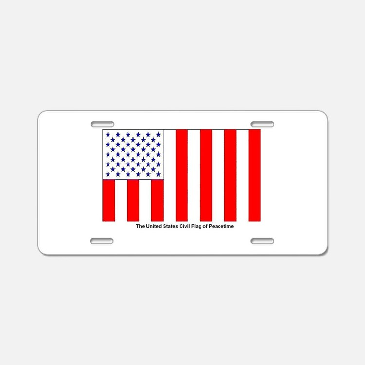 Us Civil Peacetime Flag Aluminum License Plate