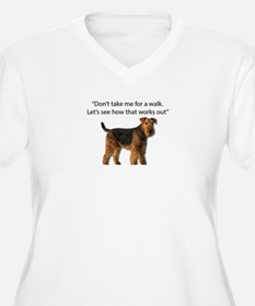 Airedale Terrier Getting Ready f Plus Size T-Shirt