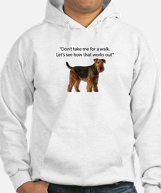 Airedale Terrier Getting Ready f Hoodie