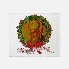 Saint Nicholas - Merry Christmas Throw Blanket