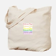 Professional Fangirl Rainbow Tote Bag
