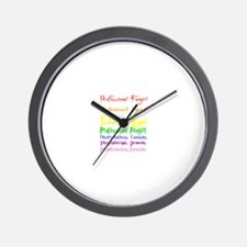 Professional Fangirl Rainbow Wall Clock