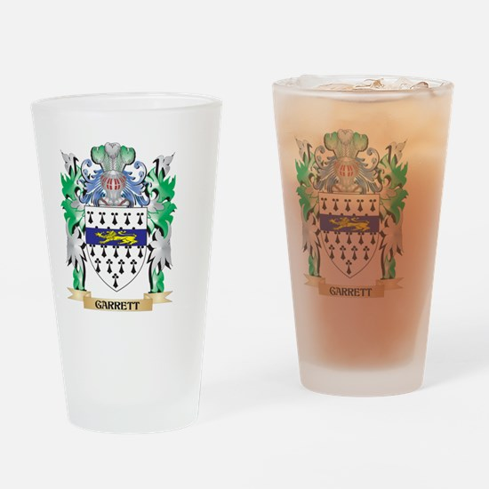 Garrett Coat of Arms (Family Crest) Drinking Glass
