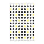 Mod Black Polka Dots Mini Poster Print