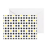 Mod Black Polka Dots Greeting Cards (Pk of 10)