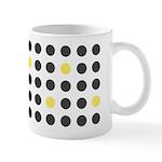 Mod Black Polka Dots Ceramic Coffee Mug