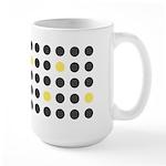 Mod Black Polka Dots Large Mug (15 oz)