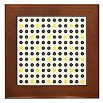 Mod Black Polka Dots Framed Tile