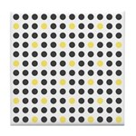 Mod Black Polka Dots Tile Drink Coaster