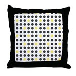 Mod Black Polka Dots Throw Pillow