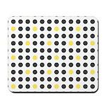 Mod Black Polka Dots Mousepad