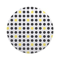 Mod Black Polka Dots Ornament (Round)