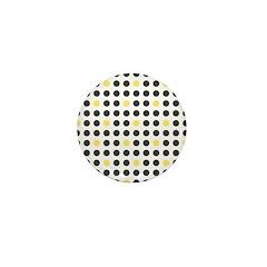 Mod Black Polka Dots Mini Button
