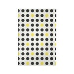 Mod Black Polka Dots Rectangle Magnet