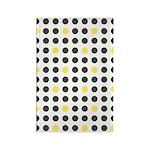 Mod Black Polka Dots Rectangle Magnet (10 pack)