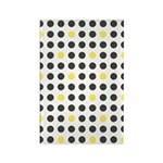 Mod Black Polka Dots Rectangle Magnet (100 pack)