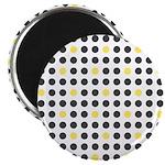 """Mod Black Polka Dots 2.25"""" Magnet (10 pack)"""