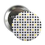 Mod Black Polka Dots Button
