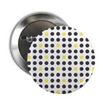 "Mod Black Polka Dots 2.25"" Button (100 pack)"