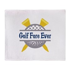 Golf Fore Ever Throw Blanket