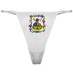 Cats In Love Classic Thong