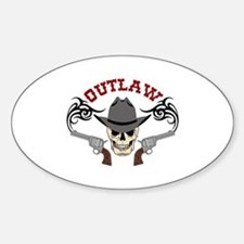 Cowboy Outlaw Decal