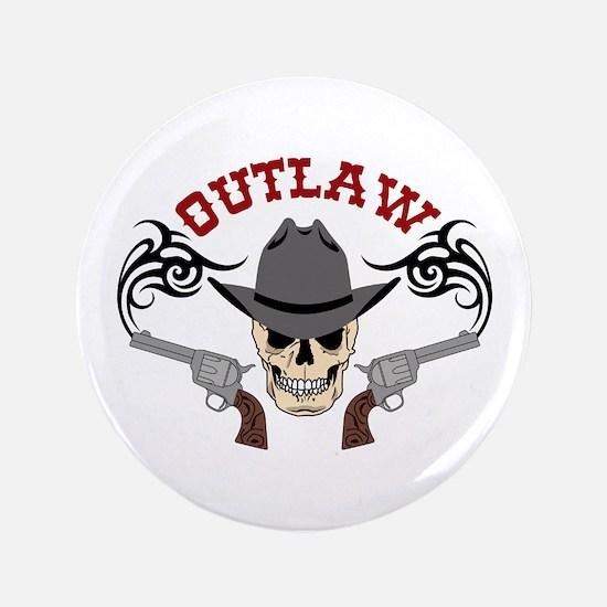 Cowboy Outlaw Button