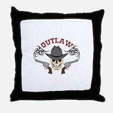 Cowboy Outlaw Throw Pillow